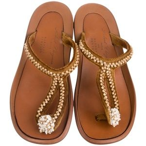 Robert Clegerie embellished thong sandals 9